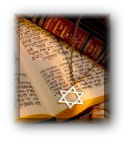 Jewish book and star